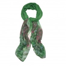 58044 Scarves Monet Green Made With Polyester