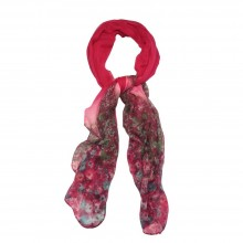 58045 Scarves Monet Fuchsia Made With Polyester