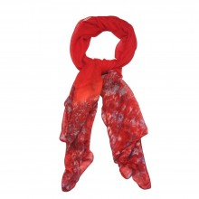 58046 Scarves Monet Red Made With Polyester