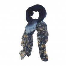 58047 Scarves Monet Navy Made With Polyester
