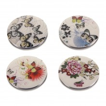 58200 Compact Mirror Flight Of Butterfly Made With Pu