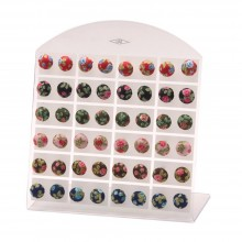 58235 Earring Stud Textile Vintage Rose Made With Polyester & Iron