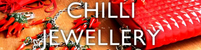 Chilli jewellery meets red accessories.