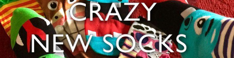 Crazy new socks - mean more foot fun.