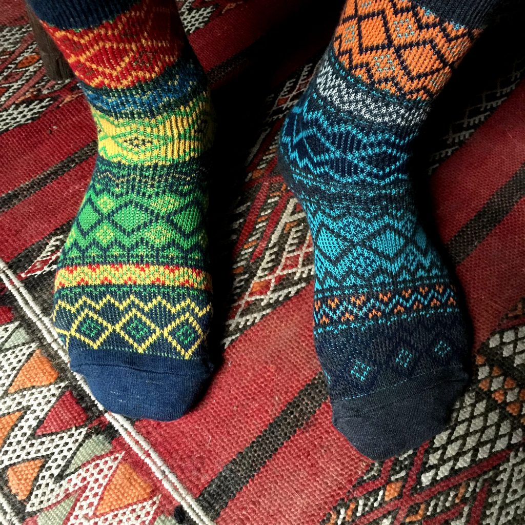Super new socks  - abstract aztec to amazing american