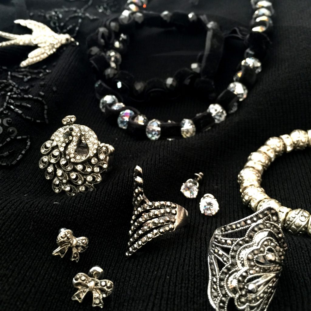 Vintage crystal costume jewellery - all that glitters