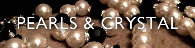 Pearl, crystal and jet jewellery for maximum glamour