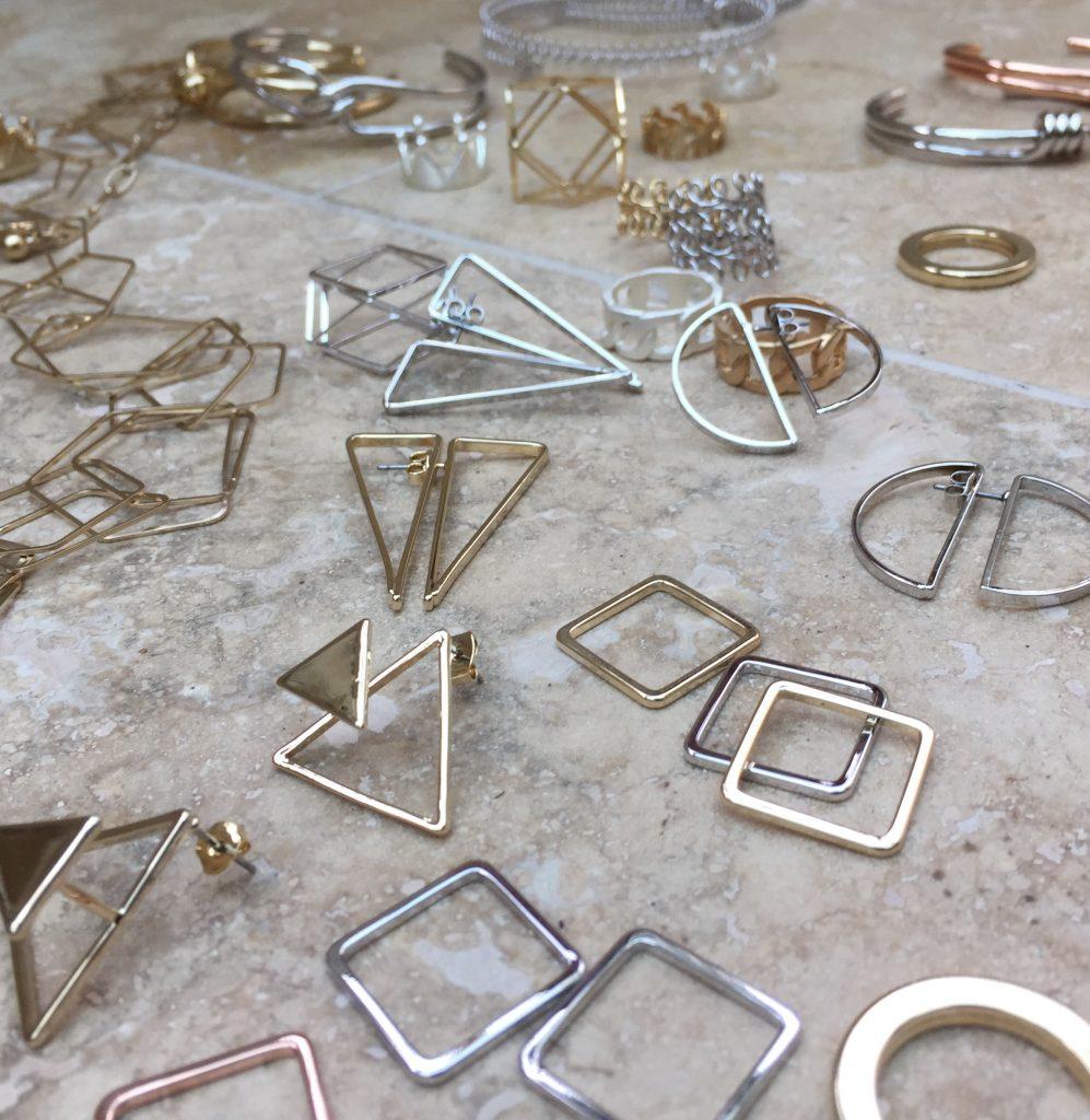 shiny new abstract jewellery
