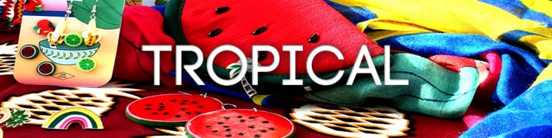 Tropical jewellery and accessories - from pineapples to palm-trees