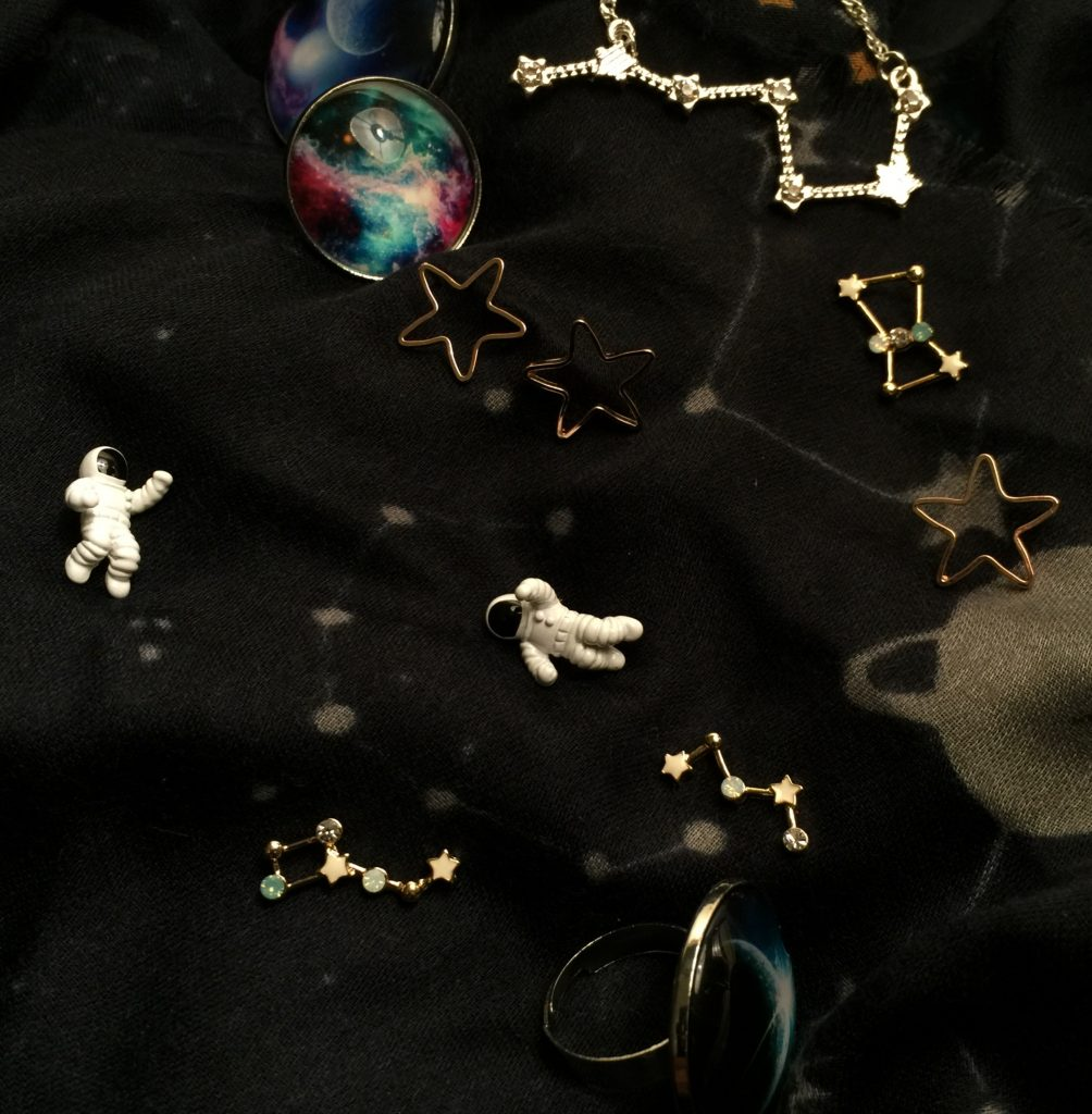 space themed jewellery and accessories