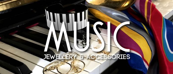 Music themed jewellery - off beat accessories and all that jazz