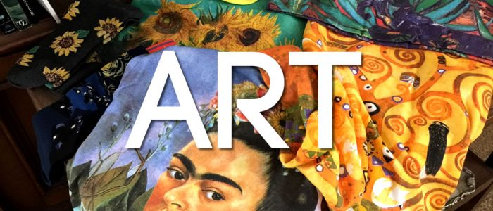 Art t-shirts and socks - from Kahlo to Klimt