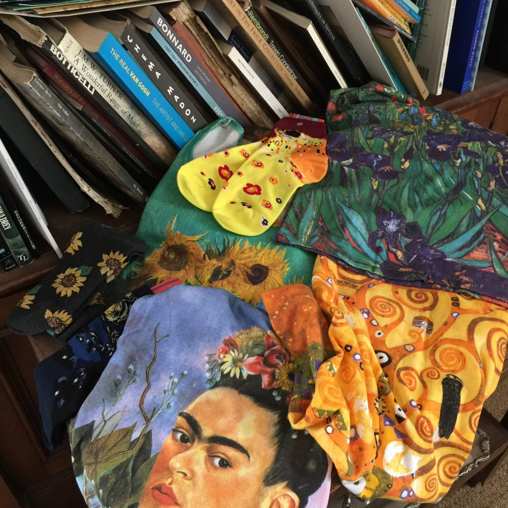art t-shirts and socks