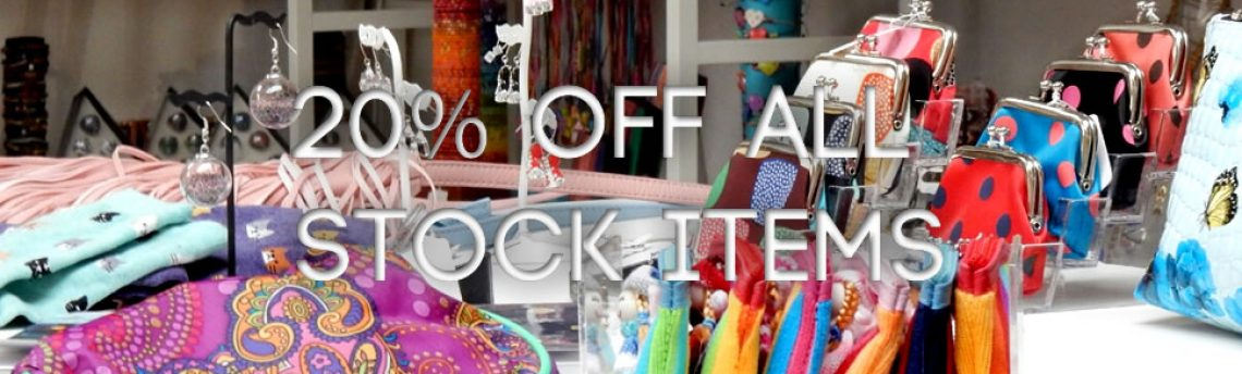 May Day Madness- 20% off all stock items