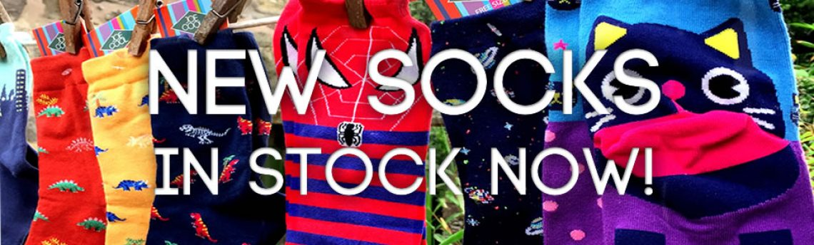 New socks – in stock now!