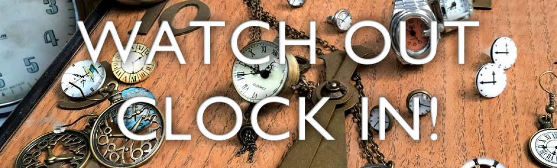 Watch and clock fashion jewellery. It's time!