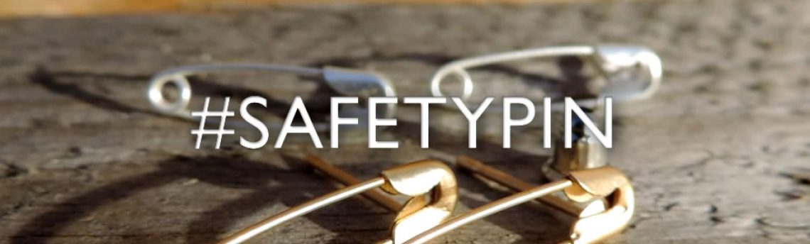 Safety pin jewellery – show your solidarity