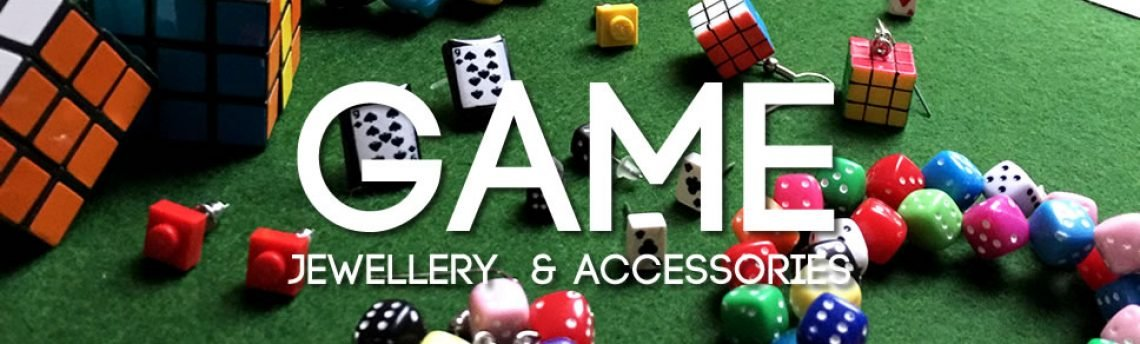 Game themed jewellery for colourful fun and games