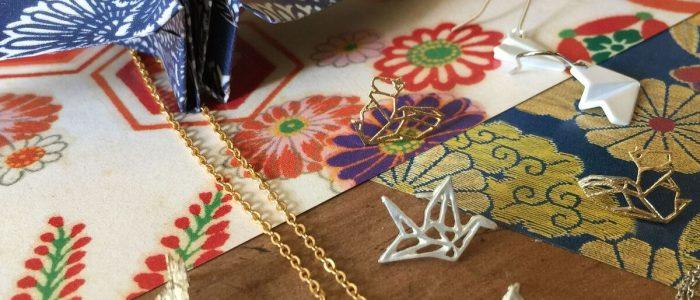Origami jewellery - Joe Cool spring elegance