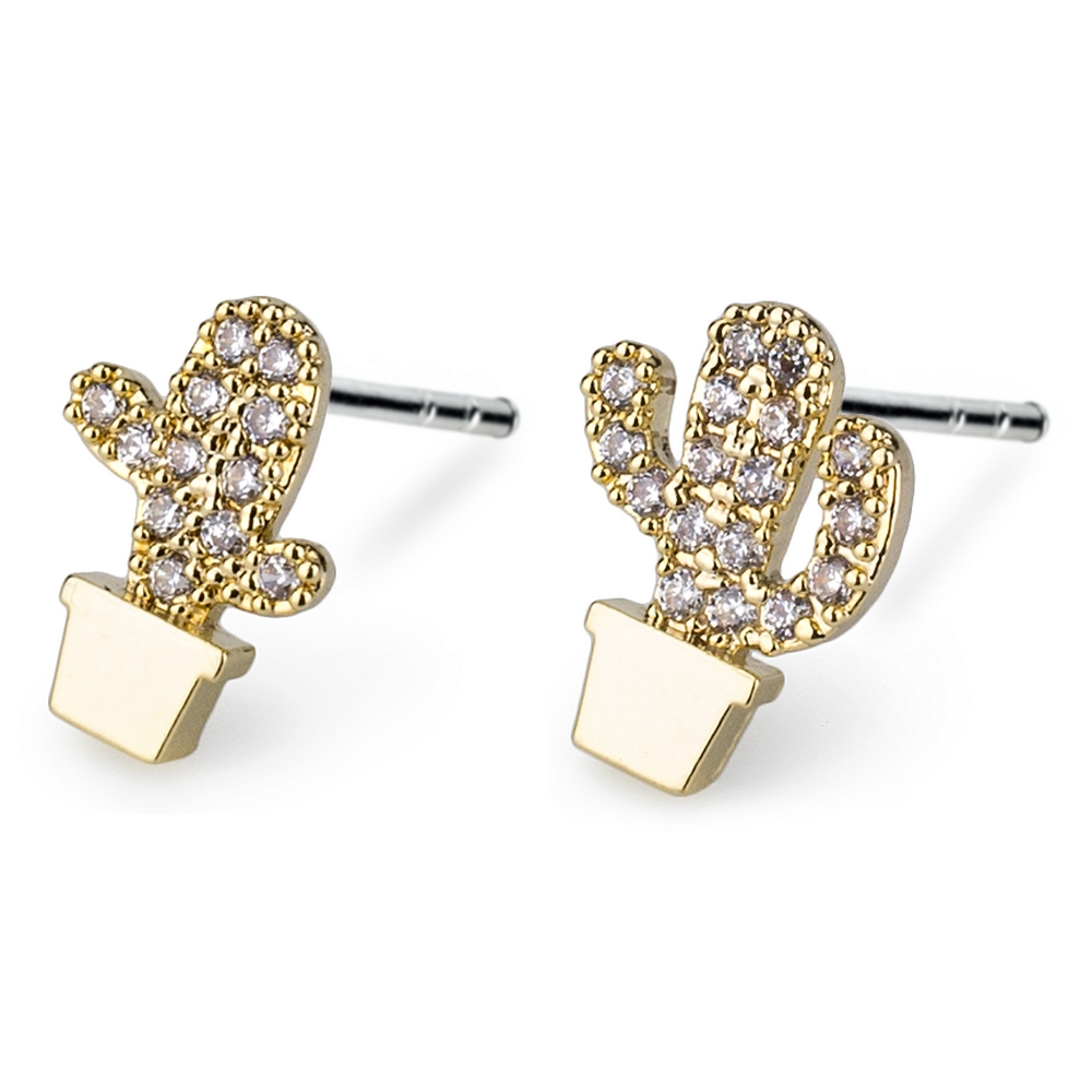 9dcd7de8f Wholesale Shop for Stud Earring Cactus Made With Crystal Glass & Tin ...