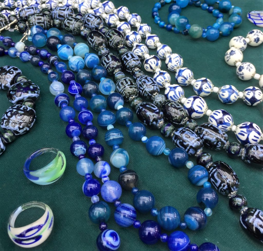 Blue Beads and Baubles – beautiful accessories in azure hues