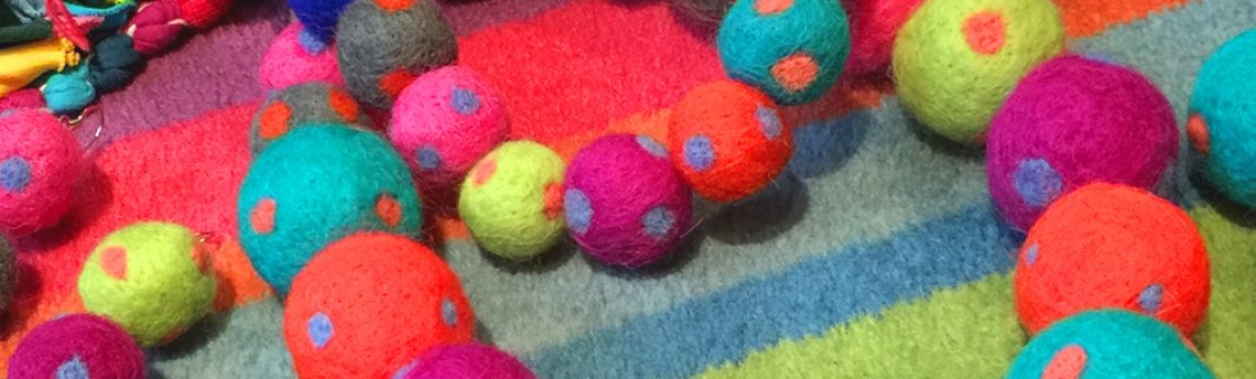 Pom-pom jewellery – dotty about felt pom-poms
