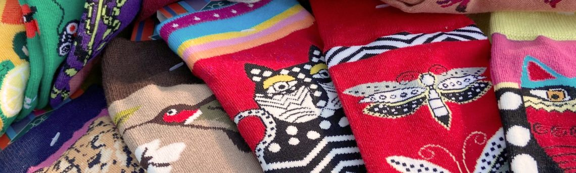 New sock designs now in stock  – socks are serious business!