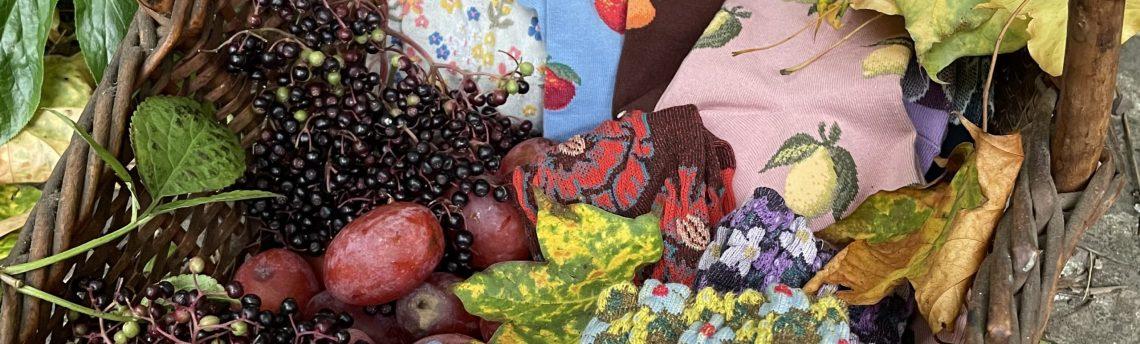 Autumn bounty – new socks reflect the season's mellow hues